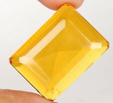 75.30 Ct. Translucent Yellow Citrine Emerald Shape Brazilian Loose Gemstone -48