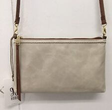 Hobo Darcy Linen Crossbody Purse Genuine Leather Handbag Bag New With Tags
