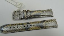 New Authentic Michele DECO CSX SILVER GENUINE PYTHON Watch Band 18 mm