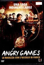 ANGRY GAMES la ragazza con l'uccello di fuoco - DVD EX-RENTAL PERFETTO, OFFERTA!
