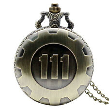 Bronze&Black Fallout 4 Official Vault 111 Electronic Game Pocket Watch Necklace