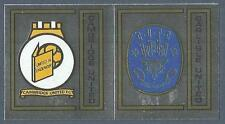 PANINI FOOTBALL 83-#363-A-B-CAMBRIDGE UNITED-CARLISLE UNITED TEAM BADGES-FOILS