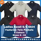 Ladies Bondi Short Sleeve Shirt Pocket Business Casual Office Work Hotel S306LS