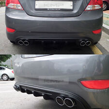 Rear Bumper Dual Muffler Type Diffuser For HYUNDAI 2011-17 Solaris Accent Verna