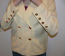 Vntg CHANEL BOUTIQUE Jacket 12 CC Logo Buttons Size 38