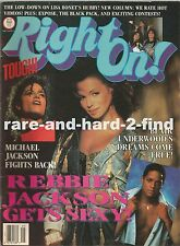 RIGHT ON May 1988 REBBIE JACKSON Rare Vintage USA Celebrity Magazine