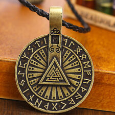 Valknut Odin 's Symbol of Norse Viking Warriors Men's silver Pendant Necklace