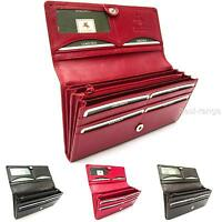 Ladies Quality Purse Wallet Soft Real Leather Red Visconti New in Gift Box HT35