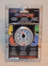 NEW SUPER PRO BOOST GAUGE 7 COLOR CHANGING RACE CAR RAT ROD CHEVY FORD DODGE