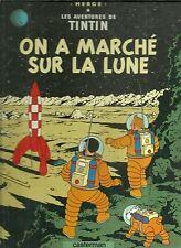 BD - TINTIN : ON A MARCHE SUR LA LUNE ( HERGE - CASTERMAN ) / TRES BON ETAT