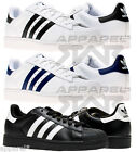 adidas Superstar II 2 Originals Trainers Mens Black White Navy Sneakers Shoes