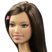 Barbie NUDE Fashionistas Flower Fun Angie Doll Green Eyes Brunette Model Pose