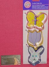 Easter Cookie Cutter Set, Bunny,Tulip,Wilton,Multi-Color, 2308-1216