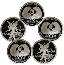 1 oz Proof Silverbug Silver Round .999 - 5 oz Total (New, Version 3, Lot of 5)
