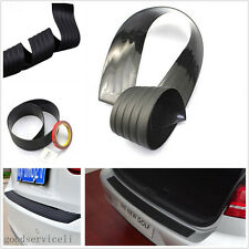 One Set Black Car Rear Guard Bumper Protector Trim Cover Pad & Accessories Glue