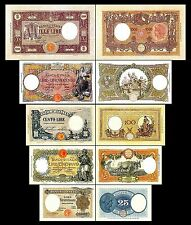 * * * 25 - 1.000 Italian Lire - Issue 1915 - 1926 - 5 Banknotes - 13 * * *