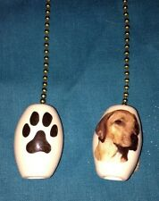 """One Rhodesian Ridgeback Dog Fan Pull With Paw Prints On The Back 1"""""""