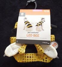 NEW NWT KITTY CAT PUPPY DOG HALLOWEEN COSTUME BUMBLE BEE 2 PC LED LIGHTS UP XS @