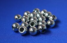 (Pack of 20) Stop Motion Armature 8mm Threaded Steel Balls, 4mm threaded hole