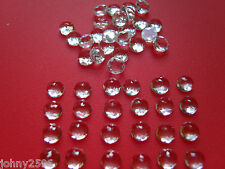 topaz cabochon gemstones 6mm round rose cut £3.50p each.