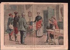 WWI Lieutenant Bonnefond Drapeau Mesnil-en-Arrouaise la Somme 1919 ILLUSTRATION