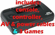 VINTAGE BOXED SEGA MASTER SYSTEM II 2 + CONTROLLER + CABLES + 3 GAMES - TESTED A