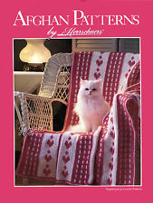 Afghan Patterns ~ Hearts Trellis & More, Herrschners McCall's crochet patterns