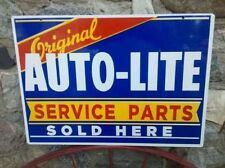 ORIGINAL AUTO-LITE SERVICE PARTS SOLD HERE HEAVY METAL SIGN