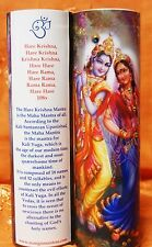 Krishna Govinda Mantra Meditation Candle with Swarovski Crystals
