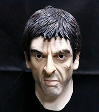 Latex Scarface Al Pacino Mask Tough Guy Movie Mafia Fancy Dress Party Halloween