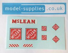 Dinky 948 mclean tracteur remorque unité reproduction waterslide transfers set