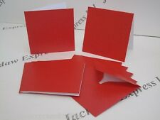 5 x Matte Pearlescent Cards & Envelopes Xmas Red 95 x 95mm AM230