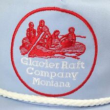 Glacier Park Raft Company Montana Baseball Cap Hat Powder Blue River Whitewater