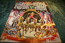 1976 Ringling Bros. & Barnum Bailey Circus Program Tons of Color Pix Fold Out!
