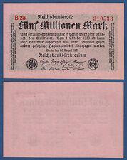 5 Millionen Mark 1923  KASSENFRISCH Ro.104 b