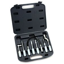 7PC  Grease Gun Adapter Fitting Lubing Hose Tip Assortment Tool Case Set Zerk