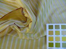 KRAVET 100%SILK STRIPE SATIN JUICE LEMON YELLOW GOLD & WHITE 6.9Y #1278