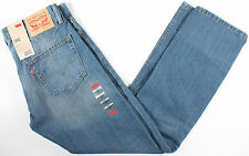 Levi's 504 Staight Fit Blue Jeans 32 x32-NEW-levis regular denim-505-501-NWT-