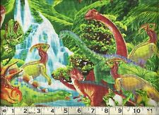 Timeless Treasures ~  Nature Dinosaurs Valley ~ 100% Cotton Quilt Fabric BTY