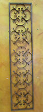 Rustic Iron Architectural Wall Art-11x55-Iron Scroll-Wrought-Have Pair-Handmade