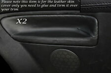 BLACK STITCH 2X REAR DOOR CARD SKIN COVERS FITS VW GOLF MK4 IV JETTA 98-05 3DR