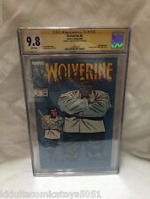 Wolverine #8 CGC 9.8 Hulk & Wolverine Signed by Chris Claremont 1989 Marvel