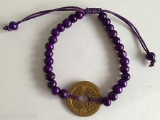 BALI GOOD LUCK FENG SHUI BRACELET - With Lucky Chinese Coin - Same Day Despatch