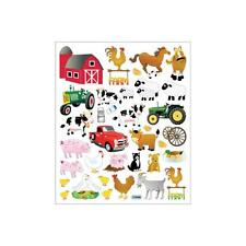 Scrapbooking Crafts Stickers Sticker King Farm Barn Tractor Pigs Cows Chickens