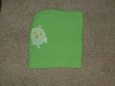 TCP THE CHILDRENS CHILDREN'S PLACE BABY BLANKET LIME GREEN DUCK CHICK STRIPED