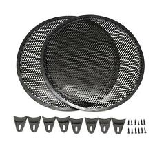 2PCS Subwoofer Protection 12'' Car Audio Speaker Cover Metal Mesh Grill Cover