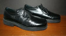 Men's Hush Puppies Leather Oxfords FLOAT FX 8.5M Black #10740 NM