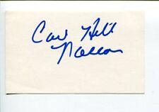 Carl Hill NASCAR Official Chief Registrar Signed Autograph