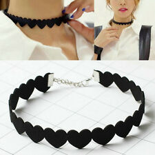 80 90's Gothic Love Heart Choker Sexy Collar Necklace Fashion Jewelry Accessory