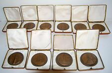 RUSSIAN SOVIET TABLE MEDAL SET OF 10 ~ 40 year Anniversary WWII Boxed
